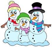 Snowman family Royalty Free Stock Photos