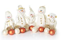 Snowman family Royalty Free Stock Image