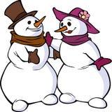Snowman family Stock Photography