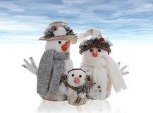 Snowman Family Royalty Free Stock Photography