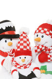 Snowman Family Christmas Stock Photography