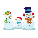 Snowman Family Stock Photos