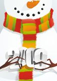 Snowman with figure 2009. A fully scalable vector illustration of Snowman with figure 2009. Happy holidays royalty free illustration