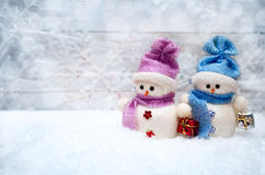 Snowman figure for Christmas Stock Photography