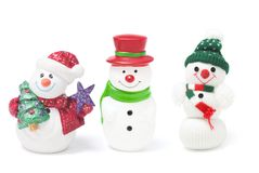 Snowman Figures Royalty Free Stock Photography