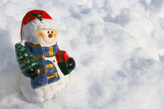 Snowman figurine Stock Photo