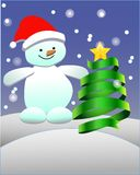 Snowman. This is file of EPS10 format Royalty Free Stock Photography