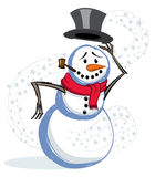 Snowman Flat Royalty Free Stock Image