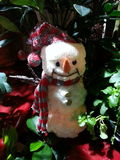 Snowman in Florist Shop Royalty Free Stock Image
