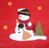 Snowman  in the form Stock Photo