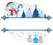 Snowman Frame Royalty Free Stock Photography