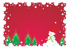 Snowman frame vector illustration