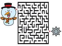 Snowman game. Stock Photo