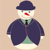 Snowman gentleman Royalty Free Stock Images
