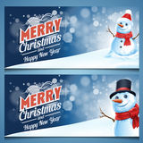 Snowman gift card frame Royalty Free Stock Images