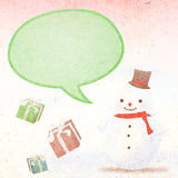 Snowman and gifts Stock Photos