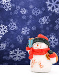 Snowman with gifts Stock Photo
