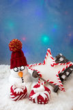 Snowman with gifts Royalty Free Stock Image