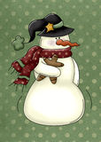 Snowman Gingerbread Background Stock Photography