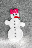 Snowman girl royalty free stock photography