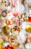 Snowman Glass Ornament Stock Photo