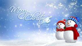 Snowman Glitter Rising Merry Christmas 4K Loop