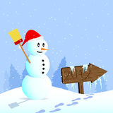Snowman goes in 2012 Stock Images