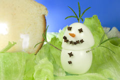 Snowman gourmet Royalty Free Stock Photography