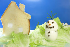 Snowman gourmet Royalty Free Stock Photo