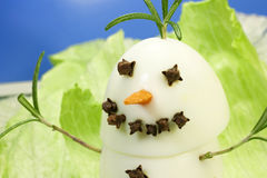 Snowman gourmet Royalty Free Stock Photos