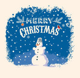 Snowman and graphic elements. Stock Photo