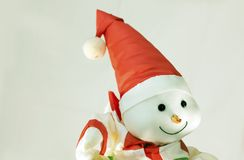 Snowman on gray background Royalty Free Stock Images