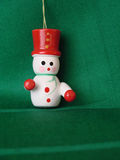 Snowman on green Stock Images