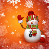 Snowman greeting Royalty Free Stock Image