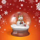 Snowman greeting vector illustration