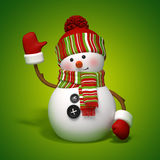 Snowman greeting Royalty Free Stock Photos