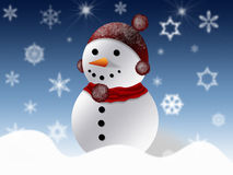 Snowman greeting card Stock Image