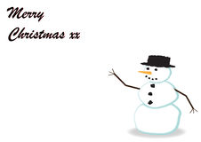 86-Snowman Greeting Card Royalty Free Stock Image