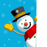Snowman Greeting Message Royalty Free Stock Image