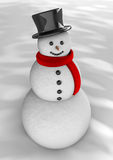 Snowman for greetings Stock Photography