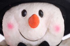Snowman happy face Stock Photos