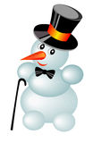 Snowman in hat Royalty Free Stock Photography