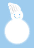 Snowman with hat Stock Images