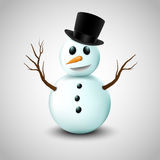 Snowman with hat Royalty Free Stock Photo
