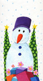 Snowman with hat Stock Photos