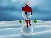 Snowman with hat Royalty Free Stock Photos