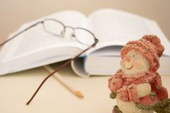 Christmas Reading and Research Royalty Free Stock Photography