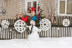 The snowman Royalty Free Stock Photography