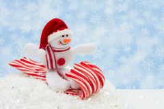 Snowman having fun Stock Photography