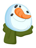 Snowman Head Royalty Free Stock Photo
